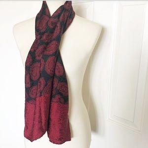 Saks Fitth Avenue 100% silk scarf red